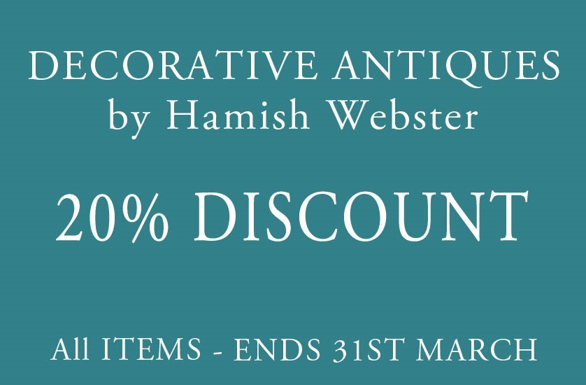 20% Discount offer from Decorative Antiques by Hamish Webster