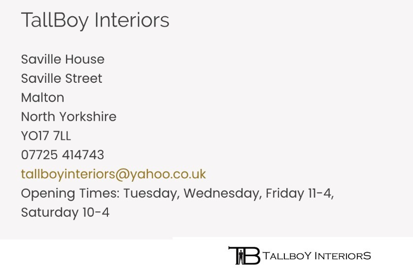 contact details for Tallboy Interiors Yorkshire